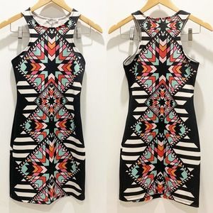 Charlotte Russe Geometric Racerback Bodycon Dress